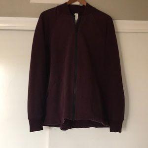 Lululemon Burgundy Bomber Jacket